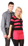 Happy smiling beautiful young couple Stock Photography