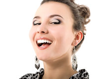Happy smiling beautiful young woman Stock Images