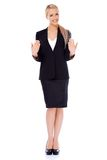 Happy smiling blond business woman Stock Photography