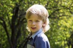Happy smiling blonde boy Stock Photo