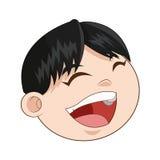 Happy smiling boy icon Stock Image