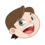 Happy smiling boy icon Stock Photos