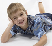 Happy smiling boy with a missi Royalty Free Stock Photography
