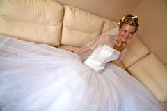 Happy smiling bride Stock Images