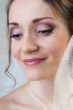 Happy smiling bride closeup portrait Stock Images