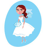 Happy smiling Bride illustration Royalty Free Stock Photos