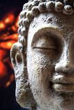 Happy smiling buddha background. Happy smiling buddha, with black and red background stock photos
