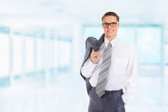 Happy smiling business man Stock Image