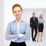 Happy and smiling business team Royalty Free Stock Image