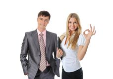 Happy smiling business team Royalty Free Stock Images