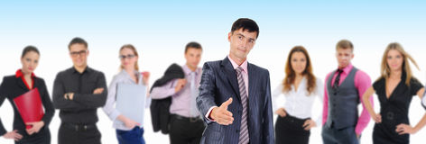 Happy smiling business team Royalty Free Stock Photography