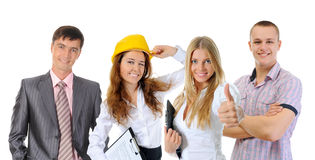 Happy smiling business team Royalty Free Stock Image