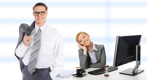 Happy smiling business team Royalty Free Stock Photos