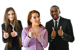 Happy Smiling Business Team. Happy smiling successful business team Stock Image