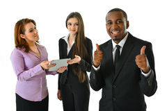 Happy Smiling Business Team. Happy smiling successful business team Stock Images