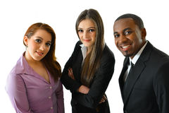 Happy Smiling Business Team. Happy smiling successful business team close up Stock Photos