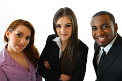 Happy Smiling Business Team. Happy smiling successful business team close up Royalty Free Stock Photography