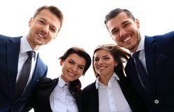 Happy smiling business team stock photography
