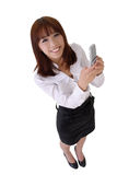 Happy smiling business woman Royalty Free Stock Image