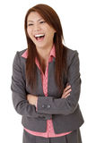 Happy smiling business woman Stock Photos