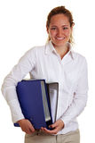 Happy smiling business woman royalty free stock photos