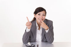 Happy smiling business woman Royalty Free Stock Images