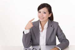 Happy smiling business woman Stock Image