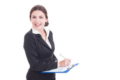 Happy smiling business woman or financial manager Royalty Free Stock Photography