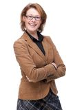 Happy Smiling Business Woman with Glasses Royalty Free Stock Image