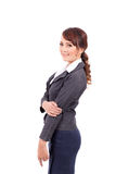 Happy smiling business woman in suit Stock Image