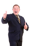 Happy smiling businessman Royalty Free Stock Images