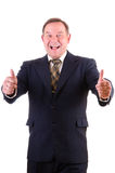 Happy smiling businessman Stock Photos