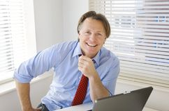 Happy smiling businessman Stock Image