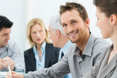 Happy Smiling Businessman Stock Photography