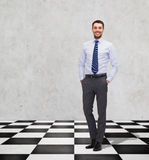 Happy smiling businessman in shirt and tie Royalty Free Stock Photo
