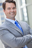Happy Smiling Businessman Wearing Suit Stock Image