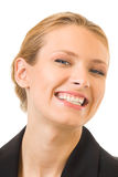 Happy smiling businesswoman Stock Photography