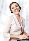 Happy smiling call center operator Royalty Free Stock Photos