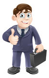 Man in suit thumbs up drawing Stock Photo