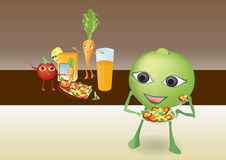 Happy smiling cartoon vegetable royalty free stock photo