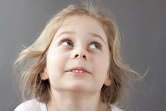 Happy smiling caucasian five years old blond child girl Royalty Free Stock Photos