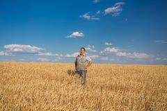 Happy smiling caucasian  old farmer Royalty Free Stock Photo