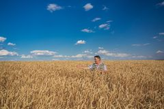 Happy smiling caucasian  old farmer Royalty Free Stock Images