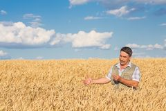 Happy smiling caucasian  old farmer Royalty Free Stock Photography