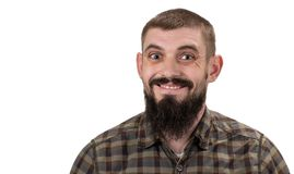 Happy smiling cheerful man isolated on white background.  Stock Image