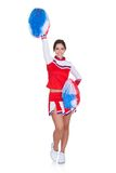Happy smiling cheerleader Royalty Free Stock Photos
