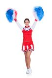Happy smiling cheerleader Stock Photography