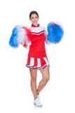 Happy Smiling Cheerleader Stock Images