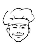 Happy smiling chef with a little Royalty Free Stock Photography