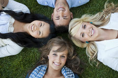 Happy Smiling College Students Stock Photo